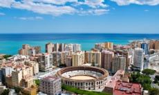 Aerial view of Málaga, Spain