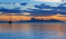 Sunset over Tahiti, French Polynesia