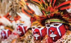 Native tribe in Papua New Guinea