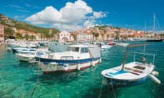 Boats in the harbour, Hvar