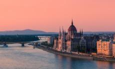 Luxury Danube river cruises - Sunset over Budapest