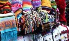 Peruvian wool souvenirs in Lima