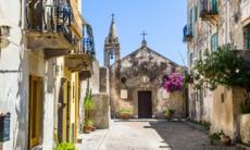 Church in Lipari, Italy