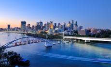 Sunset over Brisbane, Australia