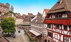 Old buildings in Nuremberg, Germany
