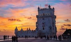 Sunset over Torre de Belem, Lisbon