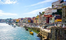 Old town embankment in Porto, Portugal