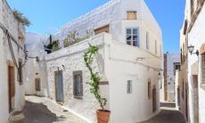 Chora on the island of Patmos, Greece