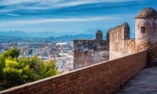 View from Gibralfaro fortress in Málaga, Spain