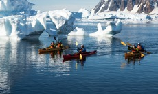 Aurora Expeditions kayaking in Antarctica