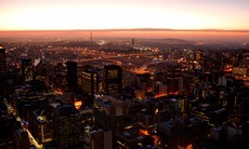 Sunset over Johannesburg, South Africa