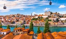 Cable cars in Porto, Portugal