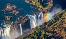 Aerial view of Victoria Falls, Zambia/Zimbabwe