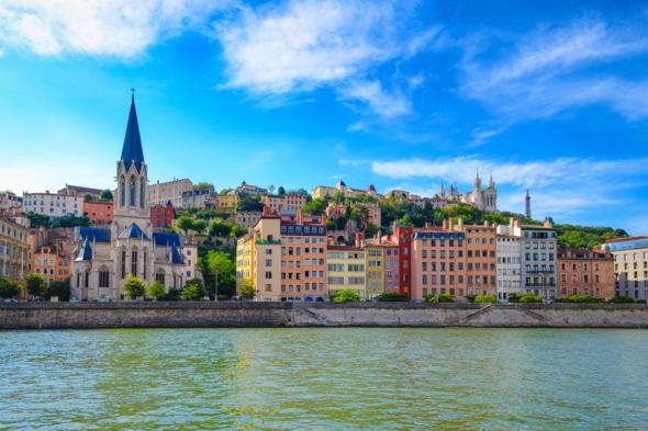 Saone riverfront, Lyon