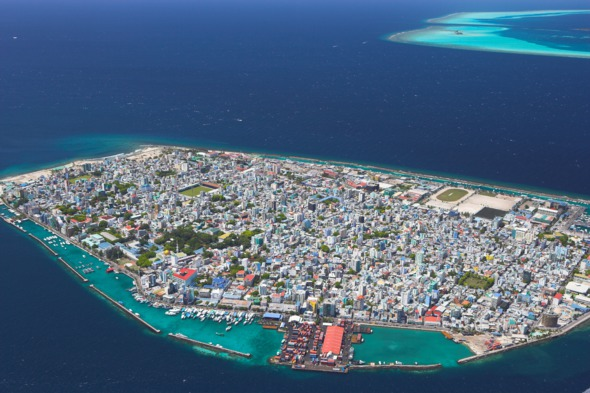 Aerial view of Malé, Maldives
