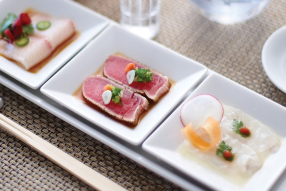 Crystal Serenity review: Nobu sushi trio at Silk Road