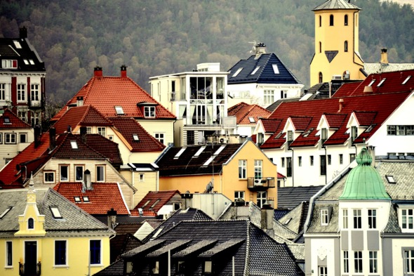Houses in Bergen, Norway