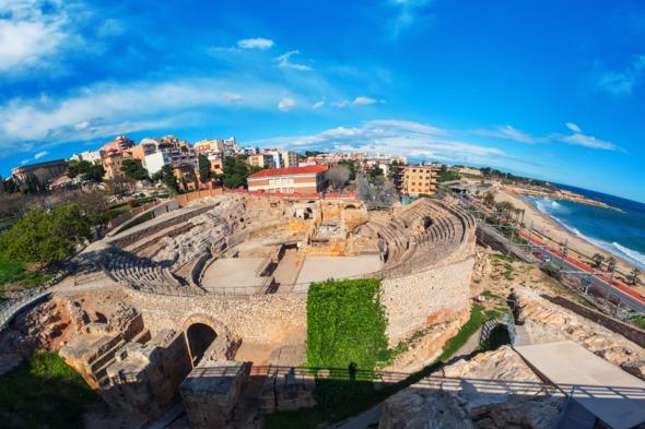 Roman ruins at Tarragona, Spain
