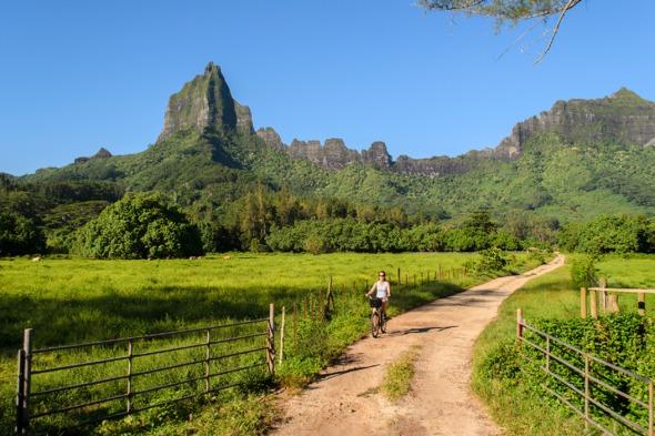 Rotui Mountain on Mo'orea, French Polynesia