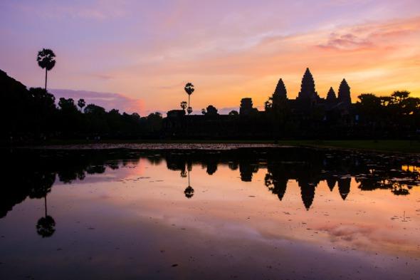 Vietnam & Cambodia cruises - Sunrise over Angkor Wat