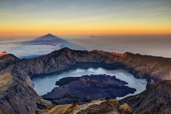Sunrise over Mount Rinjani, Lombok