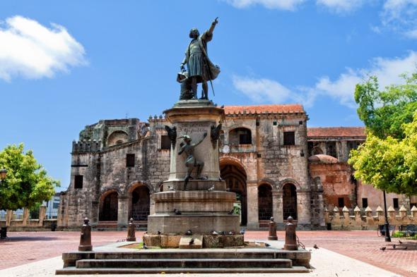 Columbus statue in Santo Domingo, Dominican Republic
