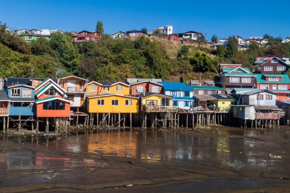 Stilt houses on Chiloé Island, Chile