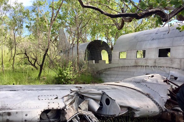 Crashed C-53 plane in the Buccaneer Archipelago, Australia