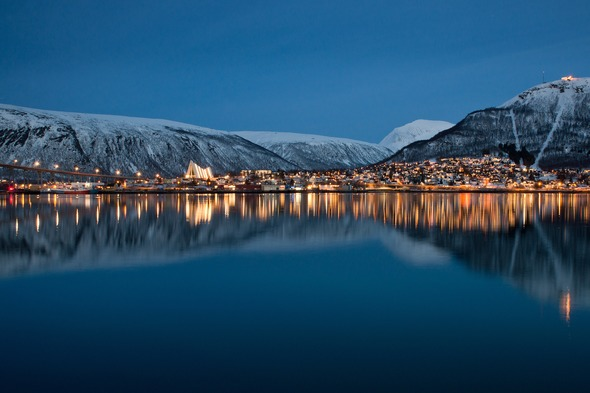 Tromso, a highlight of many Norwegian Fjords expedition cruises