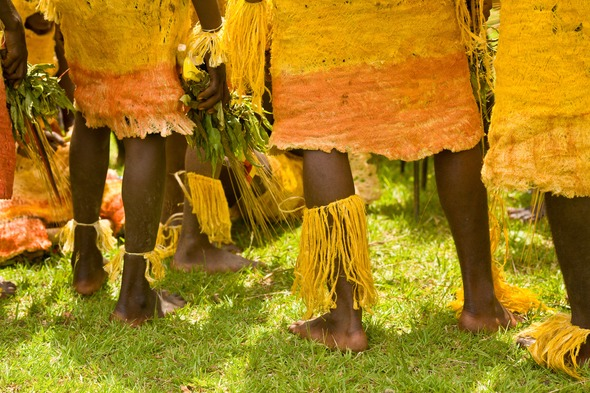 Traditional dancers in Papua New Guinea