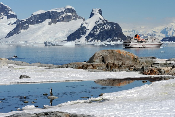 Hapag-Lloyd Cruises - Hanseatic in the Lemaire Channel, Antarctica