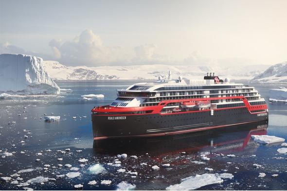 Hurtigruten - MS Roald Amundsen in Antarctica
