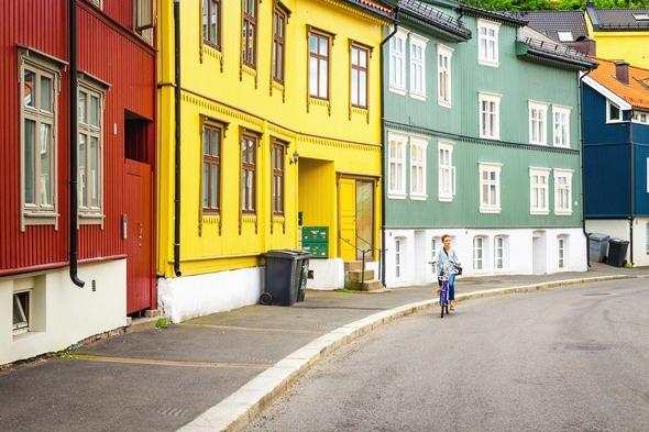 Wooden houses in Oslo, Norway