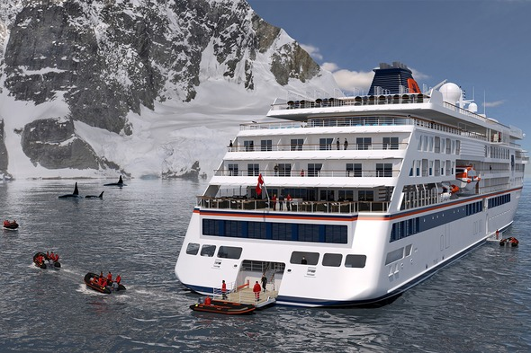 An artist's impression of one of Hapag-Lloyd's new expedition cruise ships