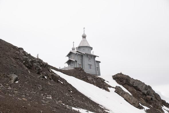 Russian Orthodox church on King George Island, Antarctica