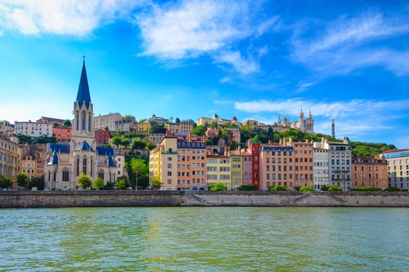 Riverfront in Lyon, France