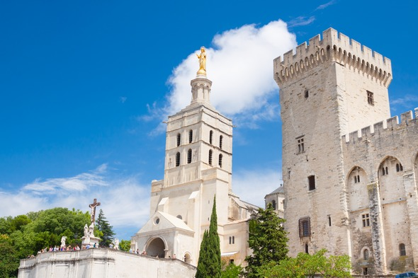 Papal Palace in Avignon, France