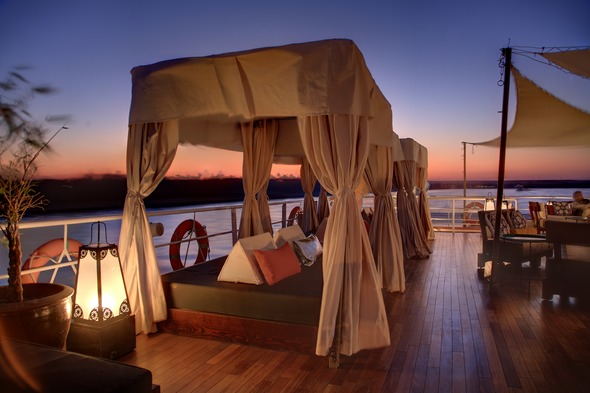 Sanctuary Nile Adventurer - Cabanas on the sun deck