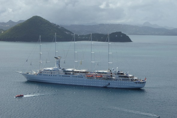 Wind Surf anchored off Pigeon Island, Saint Lucia