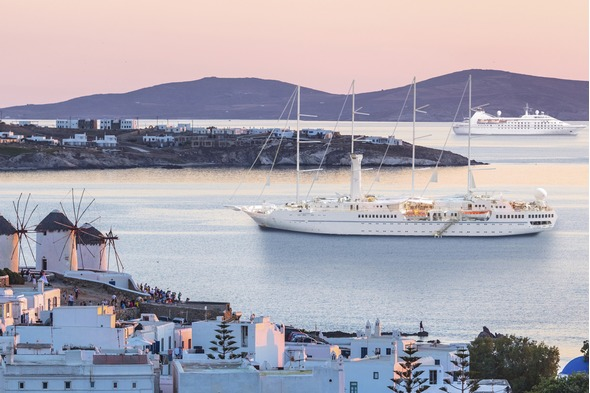 Windstar Cruises - Two yachts in Mykonos