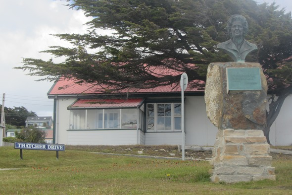 Statue of Margaret Thatcher in Stanley, Falkland Islands