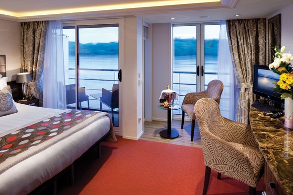 AmaWaterways - AmaPrima twin balcony stateroom