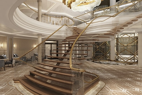 Regent Seven Seas Splendor - Grand Staircase