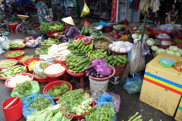 Sa Dec market, Vietnam