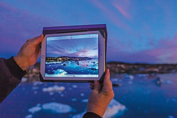 iPad photography in Antarctica on a Lindblad Expeditions cruise