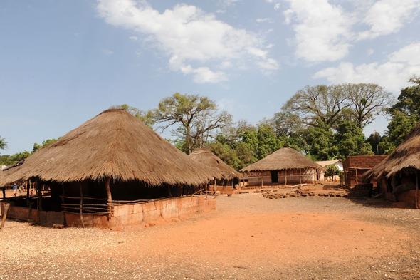 Village in the Bijagos Archipelago, Guinea-Bissau