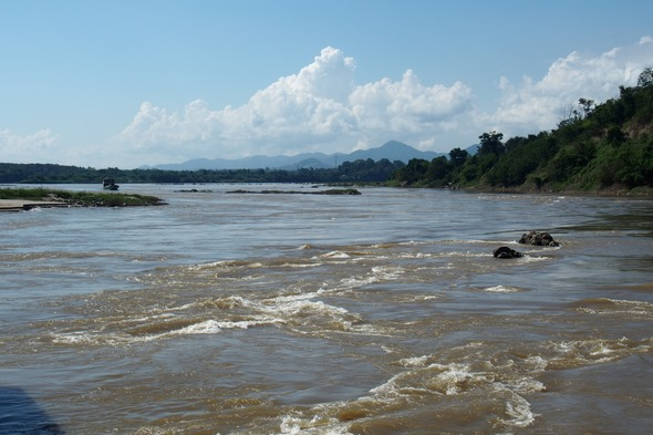 Rocks and rapids on the Upper Mekong in Laos