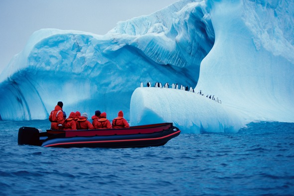 Scenic Eclipse - Zodiac in Antarctica