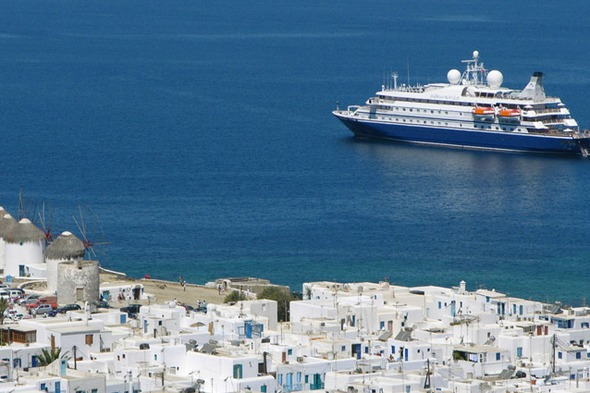 SeaDream Yacht Club in Mykonos, Greece