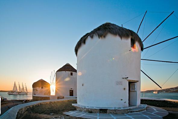 Wind Star in Mykonos, one of the best small ship Greek island cruises